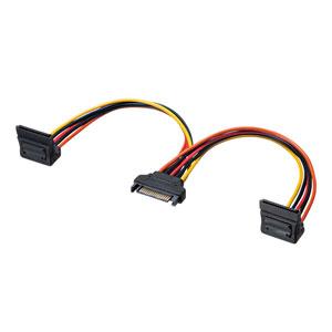 SATA電源ケーブル(電源分岐ケーブル・シリアルATA・2分岐・下L型・0.2m)