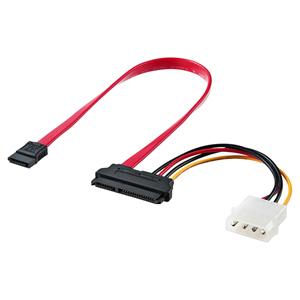 電源データ一体型SATAケーブル(SATA3規格対応、0.3m)