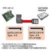 【わけあり在庫処分】右L型シリアルATA3ケーブル(ストレート側ラッチ付き・1m)