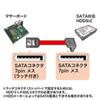 上L型シリアルATA3ケーブル(ストレート側ラッチ付き・0.5m)