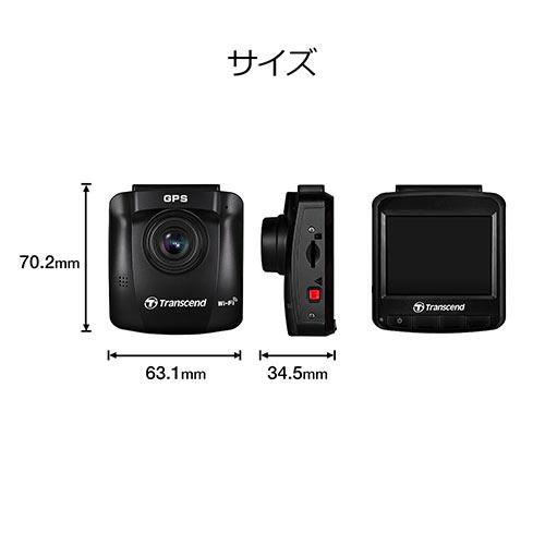 Transcend ドライブレコーダー microSD32GB付属 バッテリー内蔵 吸盤固定仕様 DrivePro 250 TS-DP250A-32G