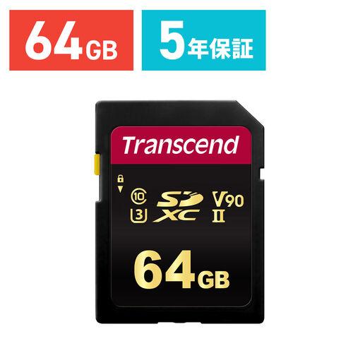 Transcend SDXCカード 64GB Class10 UHS-II V90 TS64GSDC700S