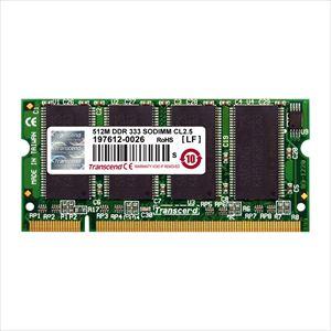 Transcend ノートPC用増設メモリ 512MB DDR-333 PC-2700 SO-DIMM TS64MSD64V3J