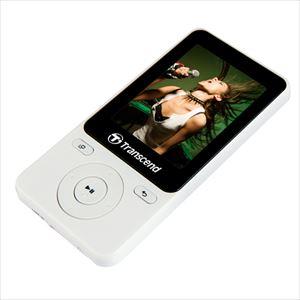 Transcend MP3プレーヤー MP710 8GB Gセンサー歩数計 FM予約録音 ボイスレコーディング ホワイト TS8GMP710W