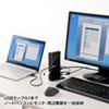 USB3.0 ドッキングステーション スタンドタイプ QWXGA(2048×1152)対応 11in1 HDMI DVI USB3.0×2 USB2.0×4 LAN 音声出力 マイク入力