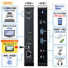 USB Type-C ドッキングステーション スタンドタイプ PD/80W対応 4K対応 9in1 HDMI Type-C USB3.0×2 USB2.0×2 LAN 音声出力 マイク入力