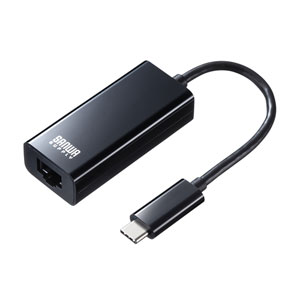 USB3.2 TypeC-LAN変換アダプタ(ブラック)