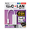LANアダプタ(USBタイプC-有線LAN変換・ギガビット・ホワイト)