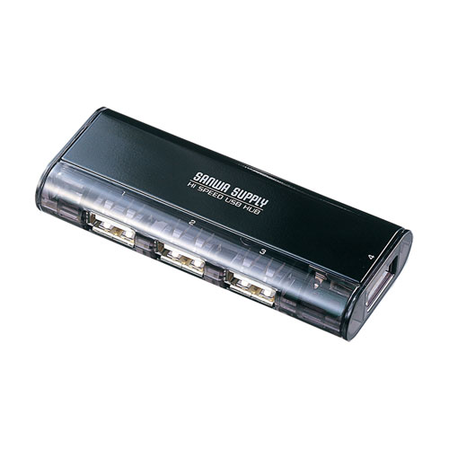 USB2.0ハブ(4ポート・ACアダプタ付・ブラック)