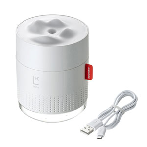USB加湿器(LEDライト付き) ホワイト