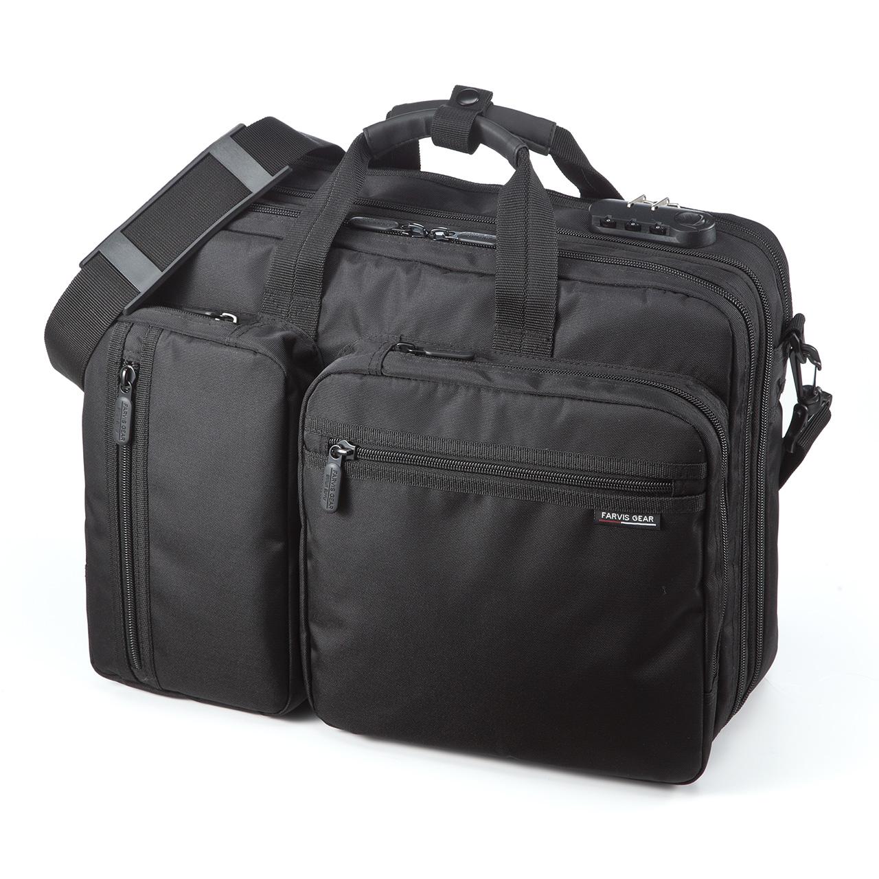 デキる男のメンズビジネスバッグ SANWA DIRECT 3WAYビジネスバッグ
